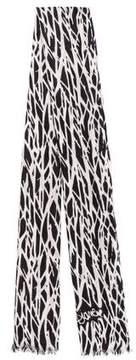 Diane von Furstenberg Zebra Print Cashmere Scarf