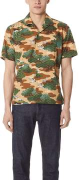 Gitman Brothers Fuji Crane Shirt with Short Sleeves