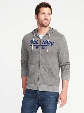 Old Navy Logo-Graphic Full-Zip Fleece Hoodie for Men
