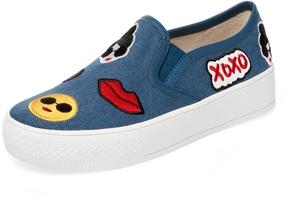Alice + Olivia Women's Pia Emoji Slip-On Sneaker