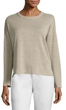 Eileen Fisher Organic Linen Knit Box Top