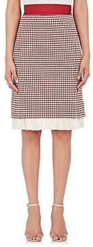 Brock Collection Women's Pleated-Hem Gingham Twill Skirt