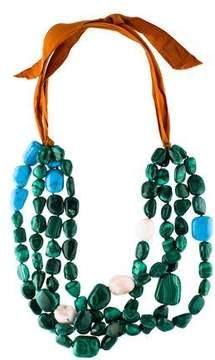 Dries Van Noten Malachite, Opal & Composite Turquoise Necklace