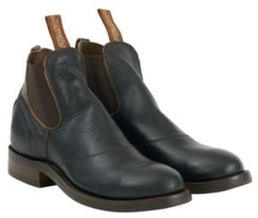 Ralph Lauren Leather Congress Work Boot Black 10