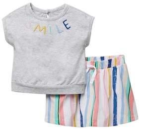 ED Ellen Degeneres Smile Top & Skort Set (Baby Girls)