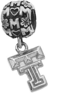 Dayna U Sterling Silver Texas Tech Red Raiders Team Logo Mom Charm