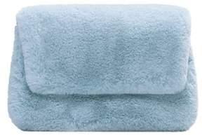 MANGO Faux fur textured clutch