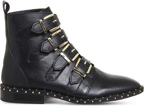 Office Amsterdam buckled stud-detail ankle boots