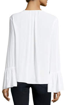 BCBGeneration Ruffle-Sleeve Peasant Top
