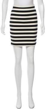 Barneys New York Barney's New York Striped Mini Skirt