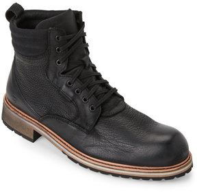 Andrew Marc Black Walter Lace-Up Boots