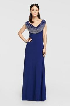 Cachet Embellished Scoop Neck Dress 56736
