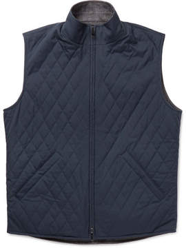 Loro Piana Marlin Reversible Quilted Shell And Wool-Blend Tweed Gilet