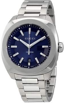 Gucci GG2570 XL Dark Blue Sun Brushed Dial Men's Watch