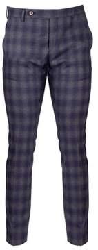 Entre Amis Men's 83461169444 Blue Wool Pants.