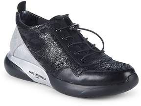 Karl Lagerfeld Men's Crackle Leather Sneakers