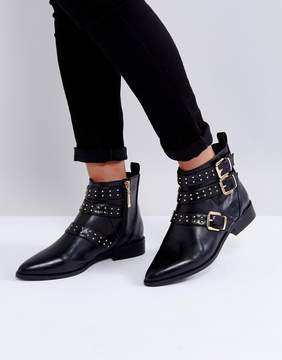 Miss KG Flat Stud Buckle Boots