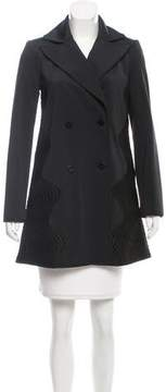 Zac Posen Embroidered Double-Breasted Coat