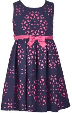Bonnie Jean Girls 7-16 Sleeveless Laser Cutout Dress