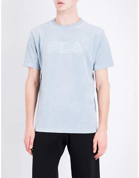 Fila Logo-embroidered cotton-blend T-shirt