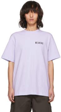 Acne Studios Purple Jaceye Meaning Print T-Shirt