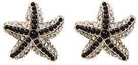 Amrita Singh Black & White Starfish Stud Earrings