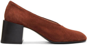 Acne Studios Brown Suede Sully Deconstructed Heels