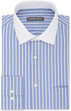 Geoffrey Beene Men's Classic Fit Wrinkle Free Aloe Performance Stripe Dress Shirt
