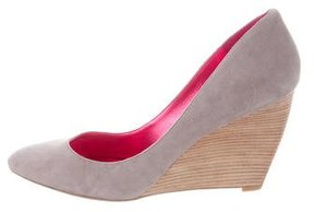 Belle by Sigerson Morrison Suede Pointed-Toe Wedges