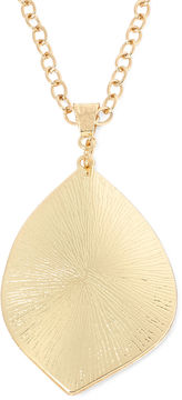 Boutique + Gold-Tone Leaf Pendant Necklace