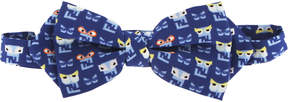 Fendi Blue Monster Print Bow Tie