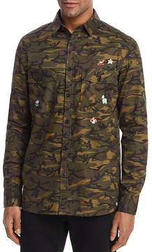 Sovereign Code Nintendo Camouflage Regular Fit Button-Down Shirt - 100% Exclusive