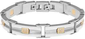 Lynx Men's Stainless Steel & Gold Ion Plated Bracelet