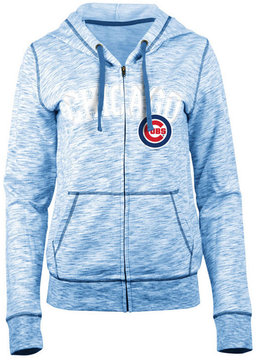 5th & Ocean Women's Chicago Cubs Space Dye Hooded Sweatshirt
