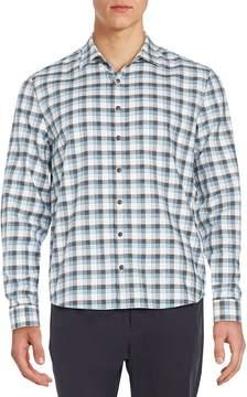 ATM Anthony Thomas Melillo Men's Regular-Fit Plaid Flannel Sportshirt