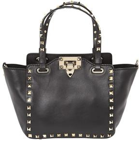 Rockstud leather handbag