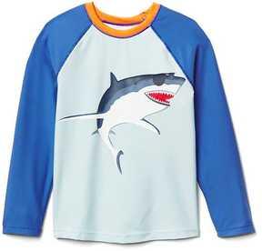 Gap Cool shark baseball rashguard
