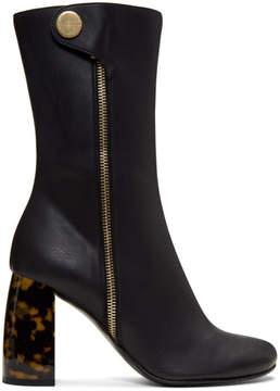 Stella McCartney Black Side Zip Heeled Boots