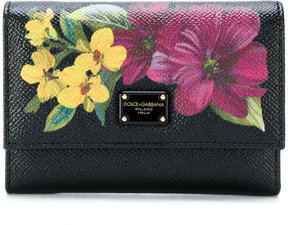 Dolce & Gabbana Dauphine floral wallet - BLACK - STYLE