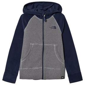 The North Face Grey and Navy Glacier Hoodie