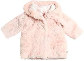 Billieblush Hooded Faux Fur Coat