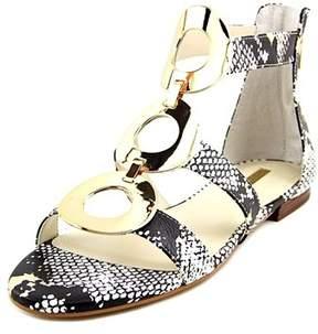 BCBGMAXAZRIA Bcbgeneration Faroh Women Gold Gladiator Sandal, Gold, Size 8.5.