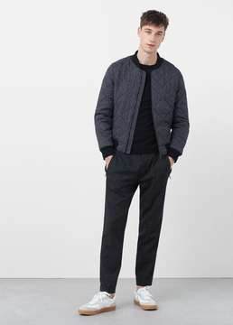 Mango Outlet Quilted bomber jacket