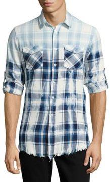 Reason Plaid Cotton Button-Down Shirt