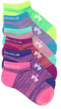 Under Armour Girls Essential Toddler & Youth No Show Socks - 6 Pack