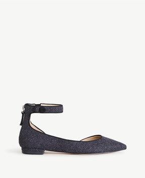 Ann Taylor Evana Flannel D'Orsay Flats