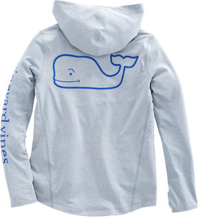 Vineyard Vines Girls Long-Sleeve Whale Active Hoodie Tee