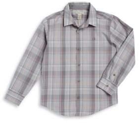 Calvin Klein Jeans Boy's Plaid Dress Shirt