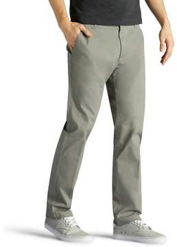 Lee Men's Performance Series Extreme Comfort Khaki Slim-Fit Flat-Front Pants