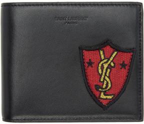 Saint Laurent Black Shield Patch East West Wallet